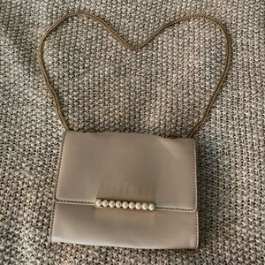 Aldo Taupe Pearl Purse shoulder crossbody bag